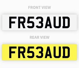 FR53AUD private plate