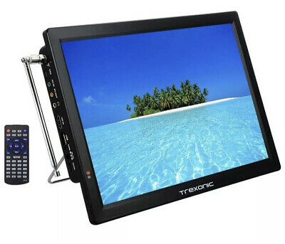 Trexonic Portable Rechargeable 14 Inch LED TV with HDMI, SD/MMC, USB, VGA, A/V