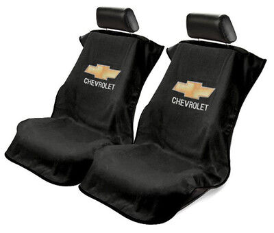 Pair (2) Universal Black Seat Armour Cover Protectors for Chevy Cars Trucks
