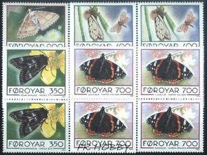 Denmark Faroe 1993 Mi 252-55 (4) ** Motyl Butterfly Schmetterling Papillon - Dabrowa, Polska - Denmark Faroe 1993 Mi 252-55 (4) ** Motyl Butterfly Schmetterling Papillon - Dabrowa, Polska