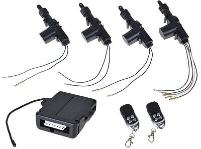 4 Door Power Central Lock Kit Car Remote Control Conversion W  2 Keyless Entry