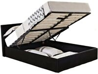 Large Double Ottoman Storage Bed For Sale, Including Mattress + Topper