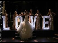 Giant 4 feet LOVE letters with led lights and Candy Cart Hire