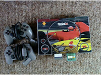 PS1 Console & 20 games