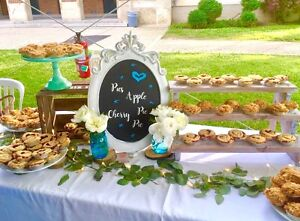Rustic dessert/sweet table decor for rent
