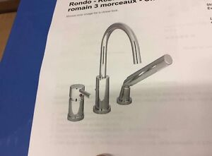 Tub trim kit with hand shower + shower head