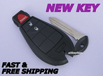 NEW virgin OEM DODGE FOBIK keyless remote fob transmitter IYZ-C01C +BLANK KEY