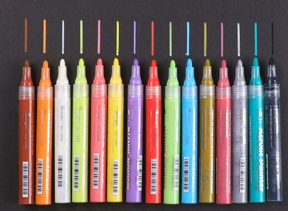 acrylic paint marker pens set pebble rock