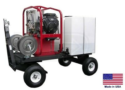 Pressure Washer Commercial - Hot Cold Steam - 5 Gpm - 3000 Psi - Atvutv