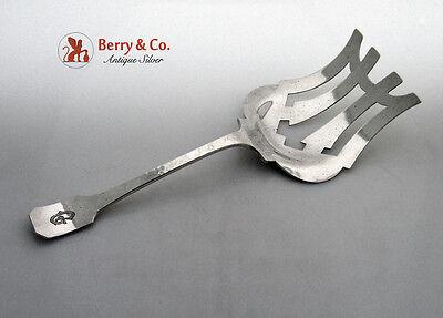 Norman Hammered Asparagus Serving Fork Shreve Sterling Silver 1915