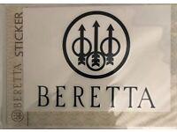 Beretta Logo White High Gloss Die Cut Window Sticker