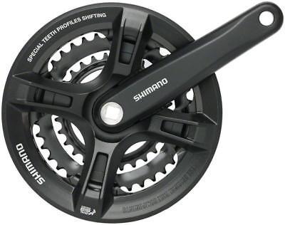 Shimano Altus M311 7/8-Speed Square Taperd 48/38/28t 175mm Crankset Black ()