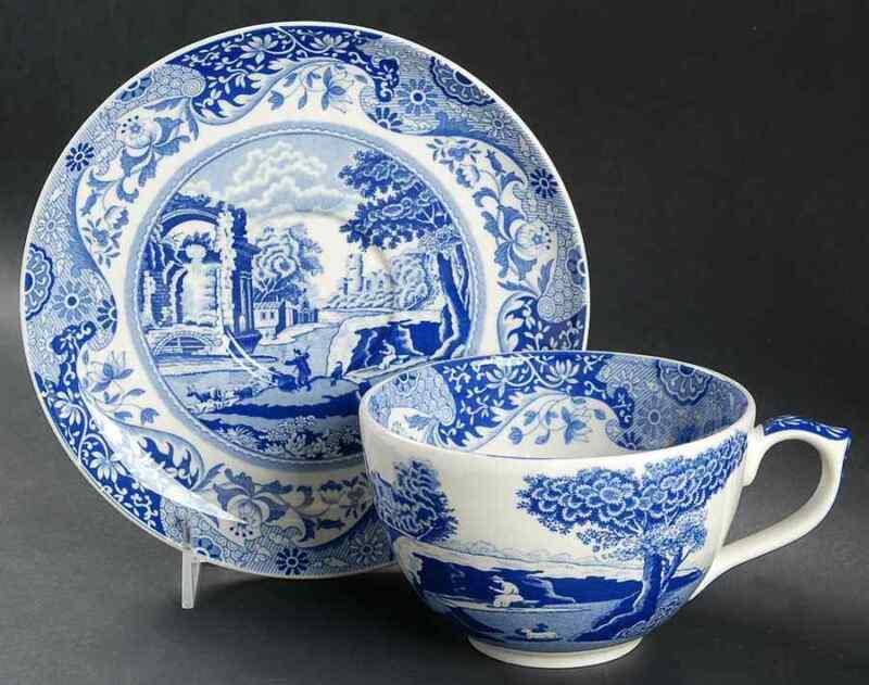Spode Blue Italian Jumbo Cup & Saucer 8862528