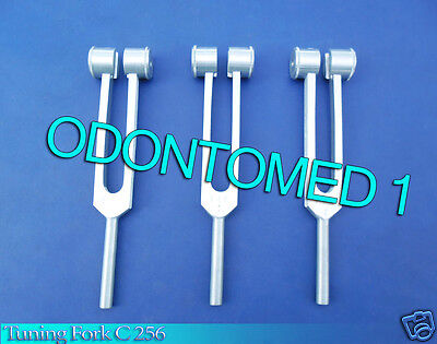 3 Tuning Fork C 256 Surgical Medical Instruments New