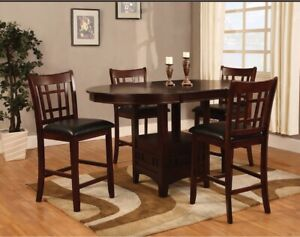 Dalton  Chocolate Counter-Height Dining Table and 4 chairs