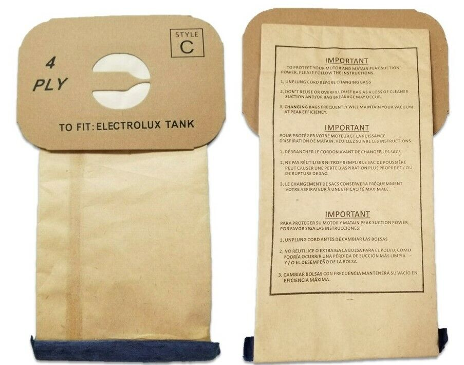Generic Vacuum Bags for Electrolux Canister - Style C - Gene