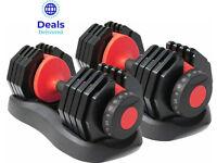 Adjustable Dumbbells ⭐ Brand New ⭐ 2 - 24kg or 5 - 40kg ⭐ Single or Pair ⭐