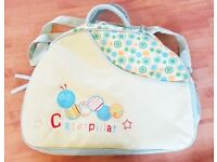 BIG NAPPY CHANGING BAG UTILITY HAND BAG WITH NAPPY PAD EXTRA POCKETS HARDLY USED