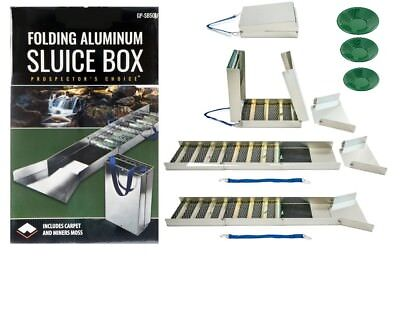 "SE 50"" Folding Aluminum Sluice Box & 3 FREE GOLD PANS!!!!"