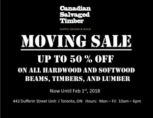 Reclaimed Hardwood and Softwood 50% OFF