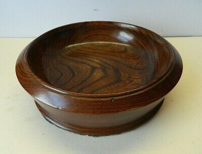 Vintage Heavy Lacquered Dark Wood Fruit Bowl
