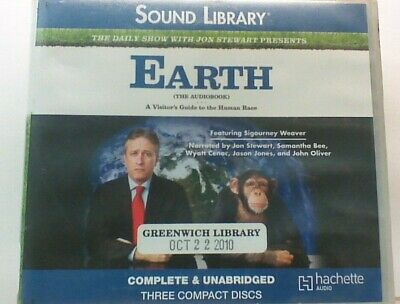 AUDIO BOOK on CDs EARTH A VISITORS GUIDE Jon Stewart The Daily Show