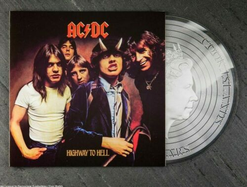 2018 $2 Cook Islands 1/2oz 999 SILVER COIN - AC/DC HIGHWAY TO HELL