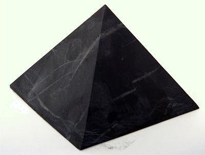 Shungite UNpolished pyramid 30x30 mm Original Healing Stone from Karelia Russia