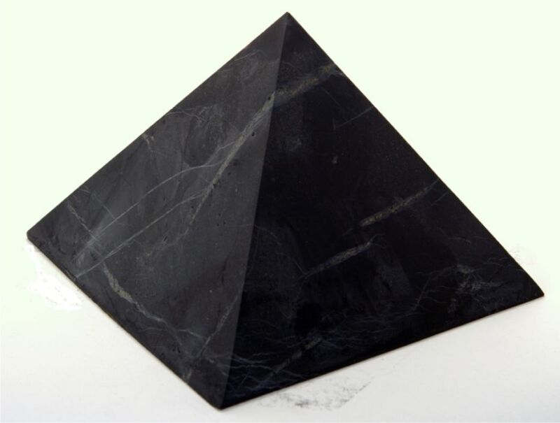 Shungite World Shungite Pyramid UnPolished 30 x 30 mm Original Healing Stone