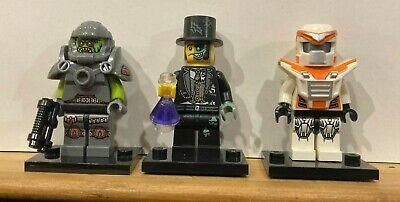 LEGO Minifigures SERIES 9 71000 x3 lot Alien Battle mech Good Evil...