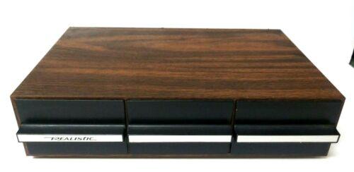 Realistic 36 Cassette Tape Storage Case - Wood Finish