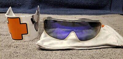 Spy Sunglasses Tron Crystal Black Grey Green Frames with Purple Lens NO (Tron Spy Sunglasses)