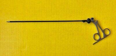 Storz 33310mfm Manhes Micro Needle Holder Carbide Jaws 5mm X 36cm Ratchet Handle