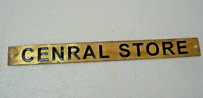 CENRAL STORE – Marine BRASS Door Sign -  Boat/Nautical - 10 x 1 Inches (37)](Nautical Decor Store)