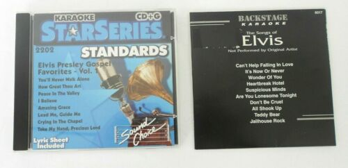 Lot of 2 CD+G ELVIS Presley Gospel V1 & The Songs of Elvis Karaoke CDG