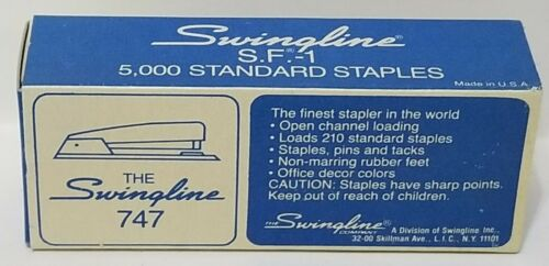 Vintage Swingline 747 New Old Stock Staples 5000 count NIB