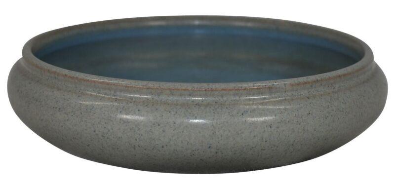 Marblehead Pottery Mottled Gray Blue Bowl