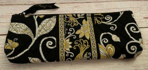 Vera Bradley Brush & Pencil Cosmetic Bag in Yellow Bird - Make-up Case - Black