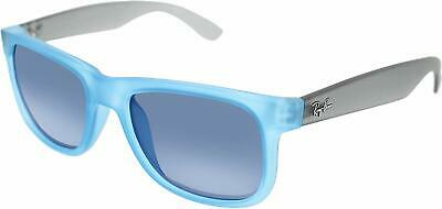 Ray-ban Justin Selten Sonnenbrille RB4165 6028/55 54mm Gummi Blau Grau Spiegel