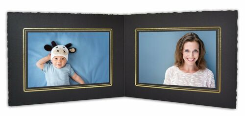 Cardboard Photo Folder For Double 6x4 Photo (Pack of 50) GS003 Black Color