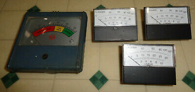 Lot Of 4 Linear Panel Meters Dc Volt Ac Amp Dc Amp Dc Rca Summit