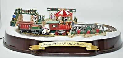 Mr Christmas Gold Label Going Home for the Holiday Train Set FOR PARTS VIDEO
