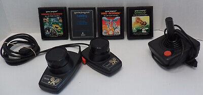 Lot of ATARI items 2 SEARS TELEGAMES Tennis PADDLES, Joystick & 4 GAMES