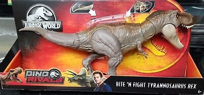 Mattel Jurassic World Dino Rivals BITE N FIGHT TYRANNOSAURUS REX T-REX IN STOCK