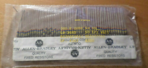 50 Allen Bradley 0.5w, 1/2 Watt Carbon Comp 5% Resistors,you pick Ohms (C11B1)
