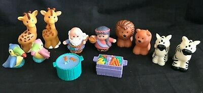 Fisher Price Little People Noah's Ark Figures Animals Food Lot of 12