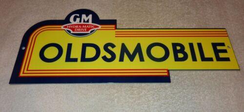 "VINTAGE OLDSMOBILE GENERAL MOTORS HYDRA-MATIC DRIVE 14"" METAL GASOLINE OIL SIGN!"