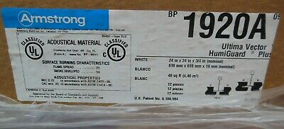 Armstrong 1920a Ultima Vector Humiguard Plus Ceiling Tiles 24 X 24 X 34
