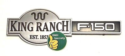 (1997-2001 Ford F150 Expedition KING RANCH Chrome OEM Tailgate Emblem Logo 97-01)