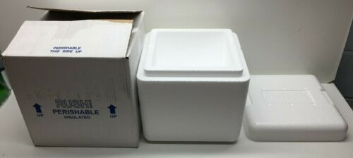 Propak Styrofoam Cooler Refrigerated Insulated Shipping Box Container 8 x 8 x 8